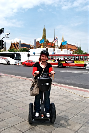 Me riding about on a segway