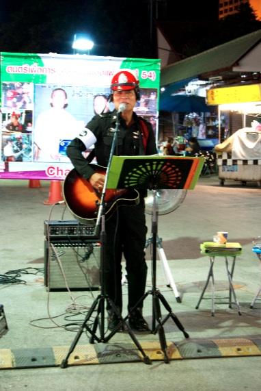 Performing policeman, Night Bazaar